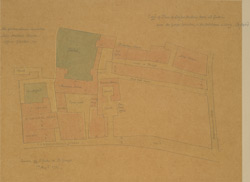 Copy of Plan of Sir John Houblon's House and Gardens from the Gough Collection in the Bodleian Library - Oxford